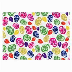 Colorful Roses Large Glasses Cloth (2 Side) by Valentinaart