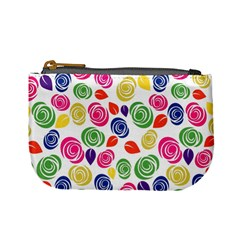 Colorful Roses Mini Coin Purses