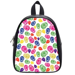 Colorful Roses School Bags (small)  by Valentinaart