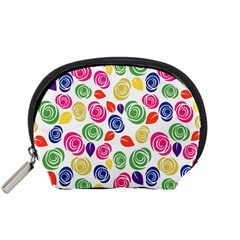 Colorful Roses Accessory Pouches (small)  by Valentinaart