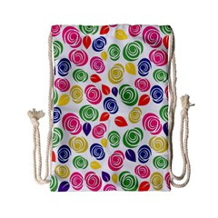 Colorful Roses Drawstring Bag (small) by Valentinaart