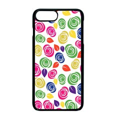 Colorful Roses Apple Iphone 7 Plus Seamless Case (black) by Valentinaart