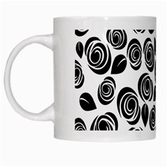 Black Roses Pattern White Mugs by Valentinaart