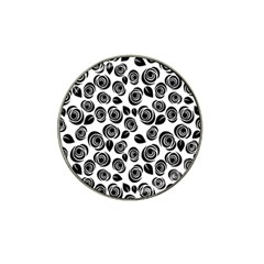 Black Roses Pattern Hat Clip Ball Marker (10 Pack) by Valentinaart