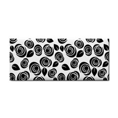 Black Roses Pattern Cosmetic Storage Cases by Valentinaart