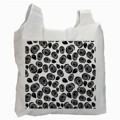 Black Roses Pattern Recycle Bag (two Side)  by Valentinaart