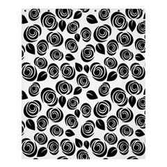 Black Roses Pattern Shower Curtain 60  X 72  (medium)  by Valentinaart