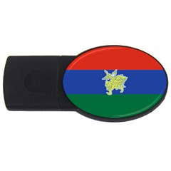 Flag Of Myanmar Kayah State Usb Flash Drive Oval (4 Gb) by abbeyz71
