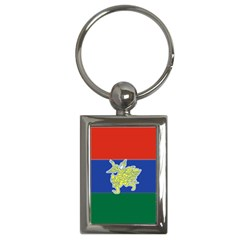 Flag Of Myanmar Kayah State Key Chains (rectangle)
