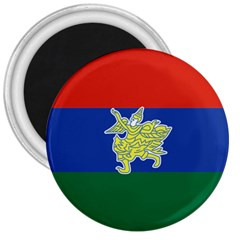 Flag Of Myanmar Kayah State 3  Magnets by abbeyz71