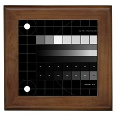 Grayscale Test Pattern Framed Tiles