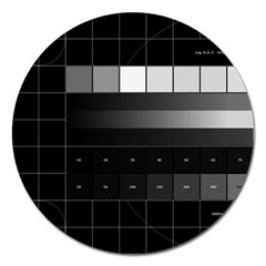 Grayscale Test Pattern Magnet 5  (round)