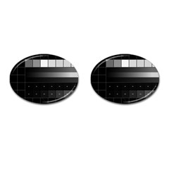 Grayscale Test Pattern Cufflinks (oval)