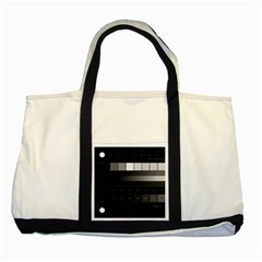 Grayscale Test Pattern Two Tone Tote Bag