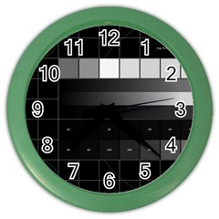 Grayscale Test Pattern Color Wall Clocks