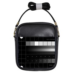 Grayscale Test Pattern Girls Sling Bags