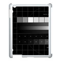 Grayscale Test Pattern Apple Ipad 3/4 Case (white) by Nexatart