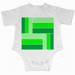 Green Shades Geometric Quad Infant Creepers