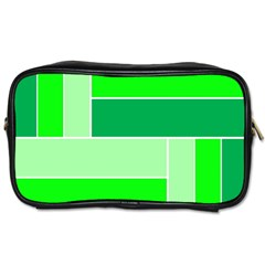 Green Shades Geometric Quad Toiletries Bags 2 Side by Nexatart
