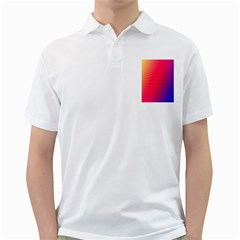 Grid Diamonds Figure Abstract Golf Shirts