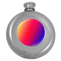 Grid Diamonds Figure Abstract Round Hip Flask (5 Oz)