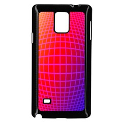 Grid Diamonds Figure Abstract Samsung Galaxy Note 4 Case (black)