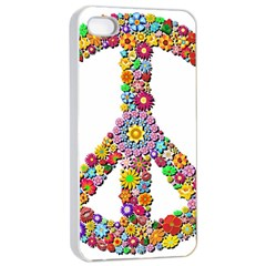 Groovy Flower Clip Art Apple Iphone 4/4s Seamless Case (white) by Nexatart