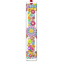 Groovy Flower Clip Art Large Book Marks by Nexatart