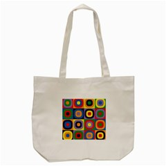 Kandinsky Circles Tote Bag (cream)