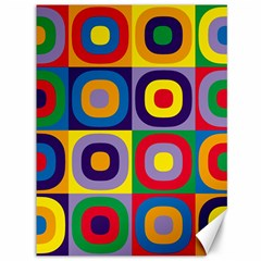 Kandinsky Circles Canvas 36  X 48   by Nexatart