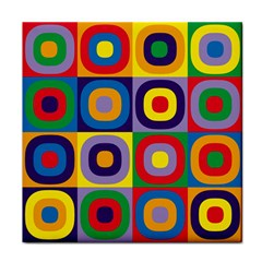 Kandinsky Circles Face Towel