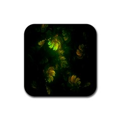Light Fractal Plants Rubber Square Coaster (4 Pack)  by Nexatart