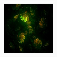 Light Fractal Plants Medium Glasses Cloth