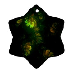Light Fractal Plants Ornament (snowflake)