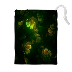 Light Fractal Plants Drawstring Pouches (extra Large) by Nexatart