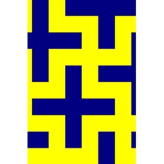 Pattern Blue Yellow Crosses Plus Style Bright 5 5  X 8 5  Notebooks by Nexatart