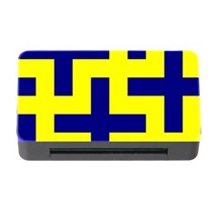 Pattern Blue Yellow Crosses Plus Style Bright Memory Card Reader With Cf
