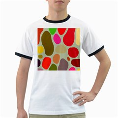 Pattern Design Abstract Shapes Ringer T Shirts by Nexatart