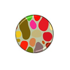 Pattern Design Abstract Shapes Hat Clip Ball Marker by Nexatart