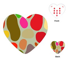 Pattern Design Abstract Shapes Playing Cards (heart)  by Nexatart