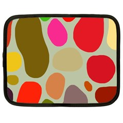 Pattern Design Abstract Shapes Netbook Case (xxl)  by Nexatart