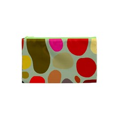 Pattern Design Abstract Shapes Cosmetic Bag (xs) by Nexatart