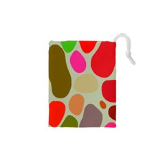 Pattern Design Abstract Shapes Drawstring Pouches (xs)  by Nexatart