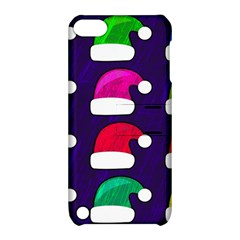 Santa Hats Santa Claus Holidays Apple Ipod Touch 5 Hardshell Case With Stand by Nexatart