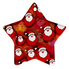 Seamless Santa Tile Star Ornament (two Sides)