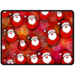 Seamless Santa Tile Fleece Blanket (large)  by Nexatart