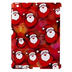 Seamless Santa Tile Apple Ipad 3/4 Hardshell Case (compatible With Smart Cover) by Nexatart
