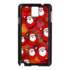 Seamless Santa Tile Samsung Galaxy Note 3 N9005 Case (black) by Nexatart