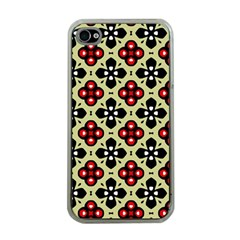 Seamless Tileable Pattern Design Apple Iphone 4 Case (clear)