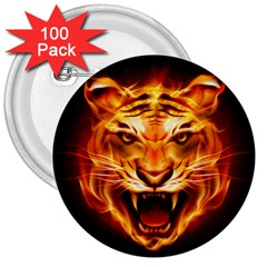 Tiger 3  Buttons (100 Pack)